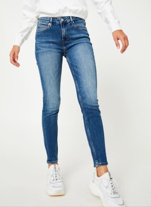 Vêtements Calvin Klein Jeans CKJ 011 MID RISE SKINNY ANKLE Bleu vue détail/paire