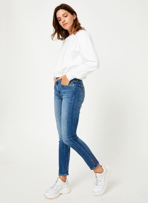 Kleding Calvin Klein Jeans LOGO TAPE CROPPED CREW NECK Wit onder