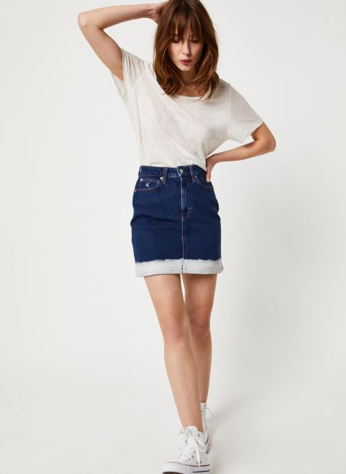 Vêtements Calvin Klein Jeans HIGH RISE MINI SKIRT Bleu vue bas / vue portée sac