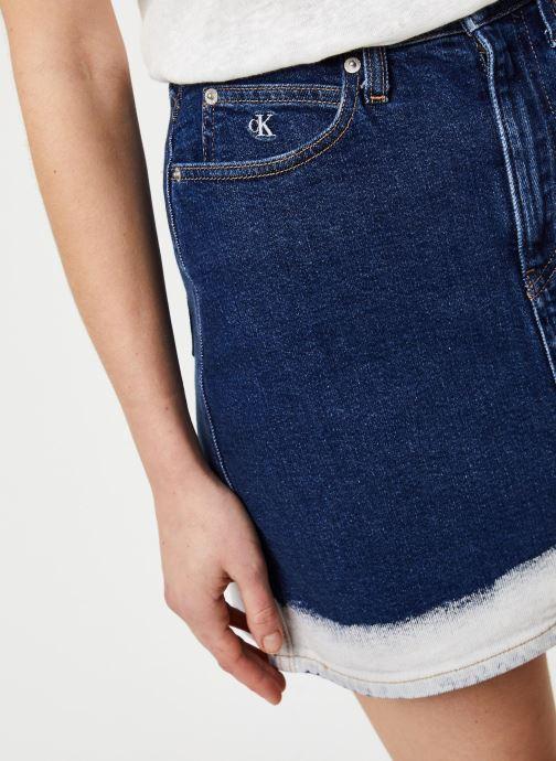 Vêtements Calvin Klein Jeans HIGH RISE MINI SKIRT Bleu vue face