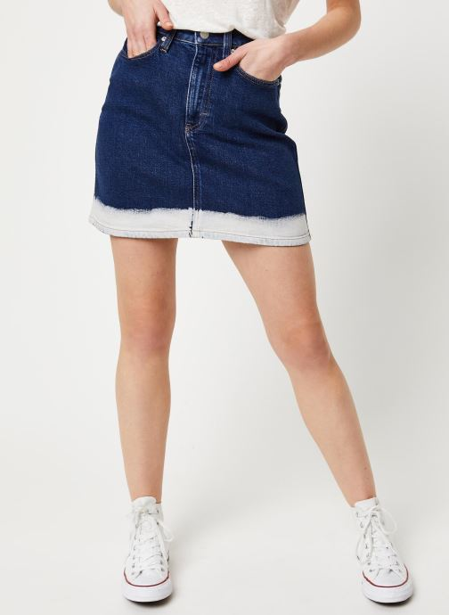 Vêtements Calvin Klein Jeans HIGH RISE MINI SKIRT Bleu vue détail/paire