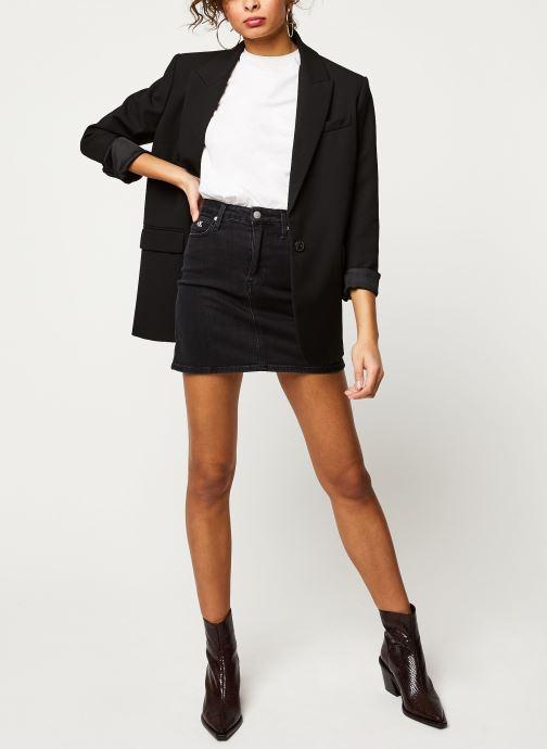 Vêtements Calvin Klein Jeans HIGH RISE MINI SKIRT Noir vue bas / vue portée sac