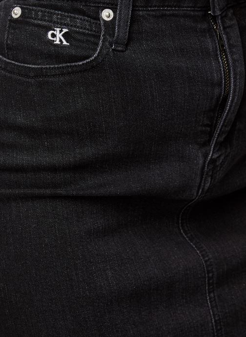 Vêtements Calvin Klein Jeans HIGH RISE MINI SKIRT Noir vue face
