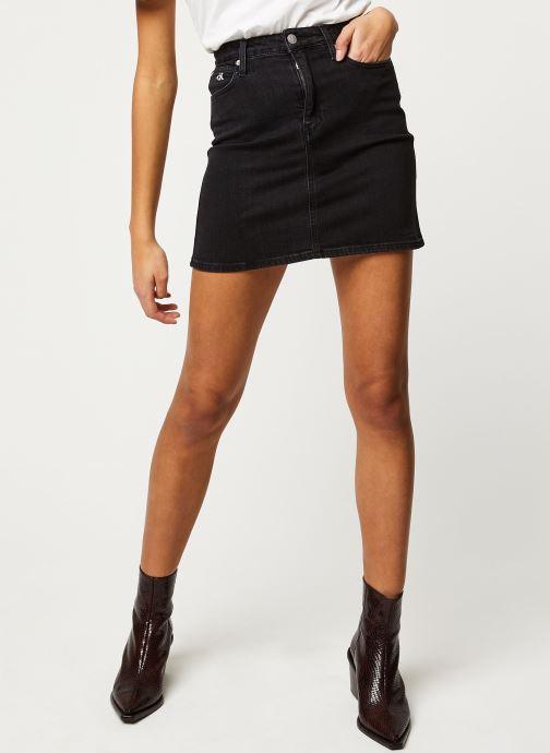 Vêtements Calvin Klein Jeans HIGH RISE MINI SKIRT Noir vue détail/paire