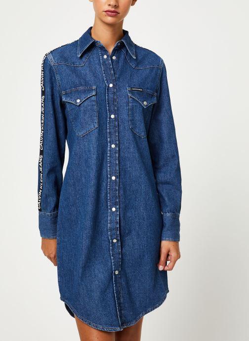 Vêtements Calvin Klein Jeans FOUNDATION WESTERN DRESS Bleu vue détail/paire