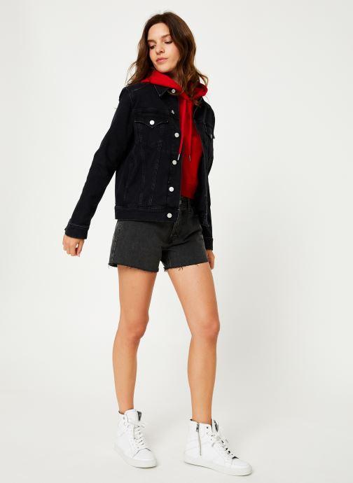 Vêtements Calvin Klein Jeans FOUNDATION TRUCKER Noir vue bas / vue portée sac