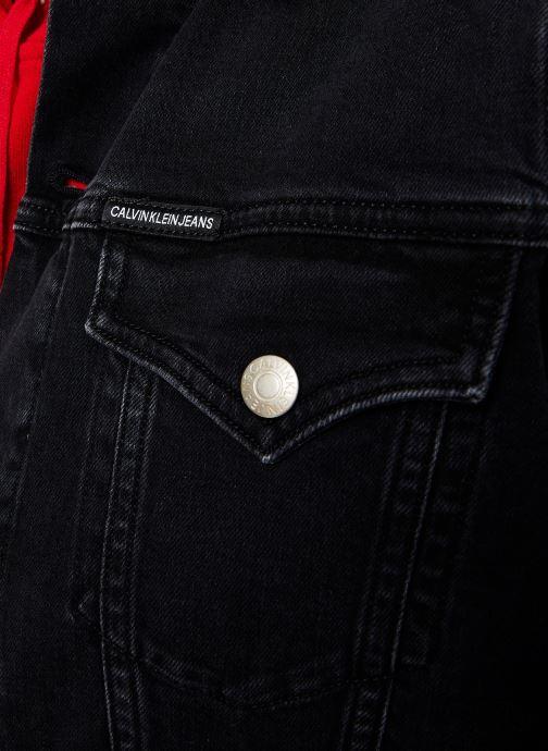 Vêtements Calvin Klein Jeans FOUNDATION TRUCKER Noir vue face