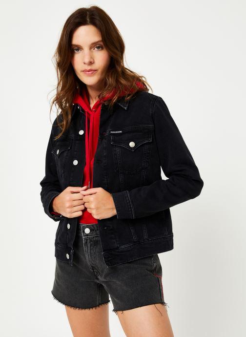 Vêtements Calvin Klein Jeans FOUNDATION TRUCKER Noir vue droite