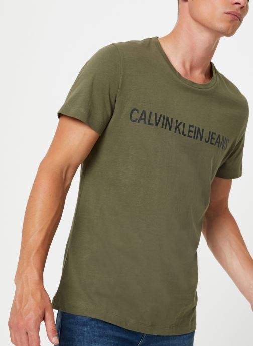 Vêtements Calvin Klein Jeans INSTITUTIONAL LOGO SLIM SS TEE Vert vue détail/paire