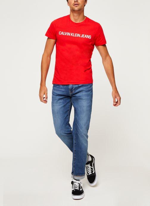Vêtements Calvin Klein Jeans Institutional Logo Slim SS Tee Rouge vue bas / vue portée sac