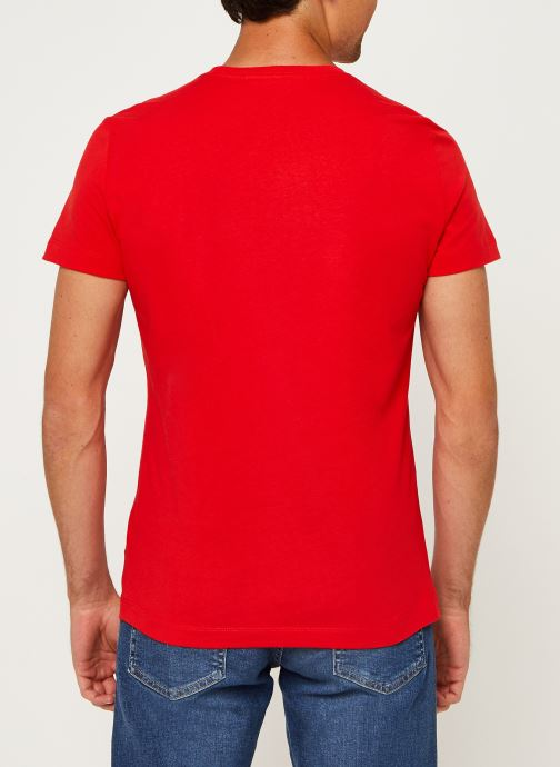 Vêtements Calvin Klein Jeans Institutional Logo Slim SS Tee Rouge vue portées chaussures