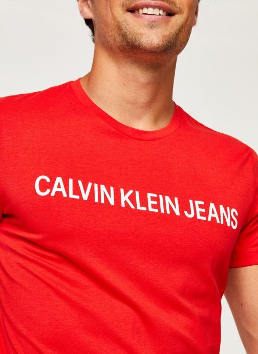 Vêtements Calvin Klein Jeans Institutional Logo Slim SS Tee Rouge vue face