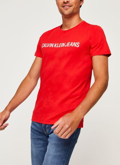 Vêtements Calvin Klein Jeans Institutional Logo Slim SS Tee Rouge vue détail/paire