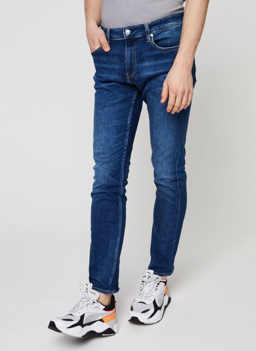 Kleding Calvin Klein Jeans CKJ 026 SLIM Blauw detail