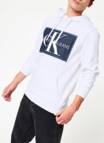 CHAMBRAY MONOGRAM HOODIE PATCH