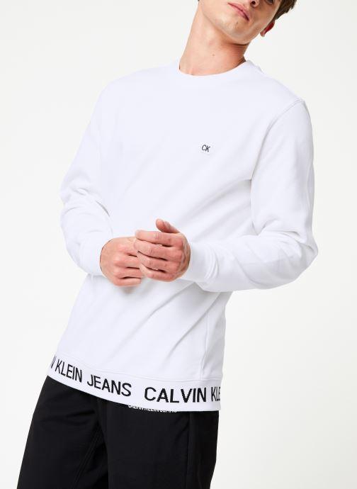 Vêtements Calvin Klein Jeans INSTIT LOGO WAISTBAND CN Blanc vue détail/paire