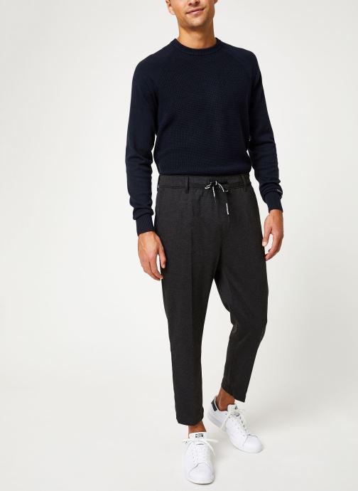 Vêtements Calvin Klein Jeans GALFOS MELANGE PANTS Noir vue bas / vue portée sac