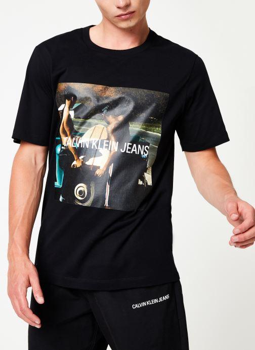 Kleding Calvin Klein Jeans PHOTO S/BOARD INSTITUTIONAL SS Zwart detail