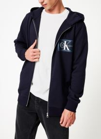 CHEST CHAMBRAY MONOGRAM ZIP up