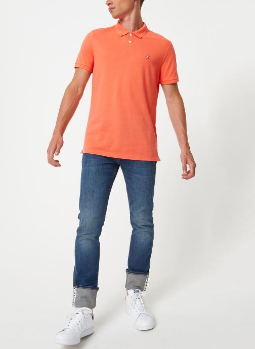 Kleding Calvin Klein Jeans BADGE PIMA COTTON POLO Oranje onder