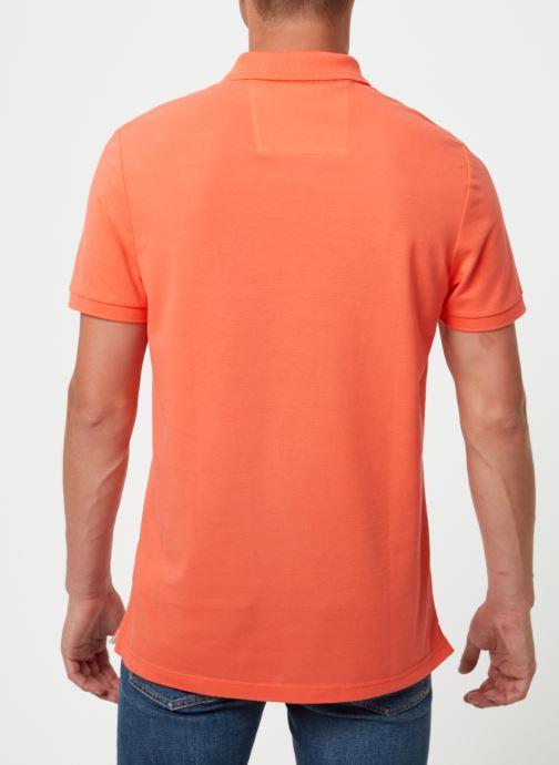 Kleding Calvin Klein Jeans BADGE PIMA COTTON POLO Oranje model