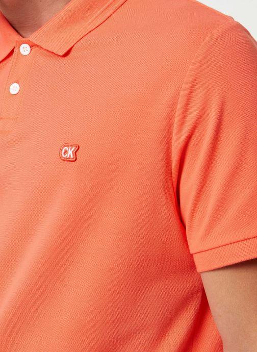 Kleding Calvin Klein Jeans BADGE PIMA COTTON POLO Oranje voorkant