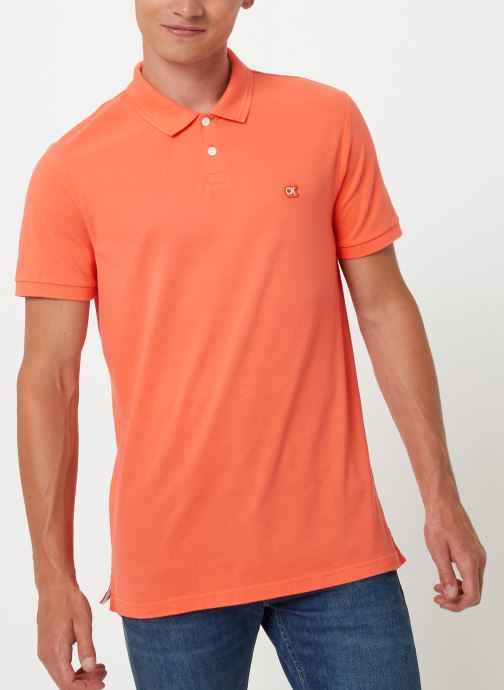 Kleding Calvin Klein Jeans BADGE PIMA COTTON POLO Oranje detail