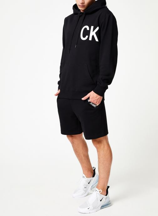 Vêtements Calvin Klein Jeans STATEMENT LOGO HOODY Noir vue bas / vue portée sac