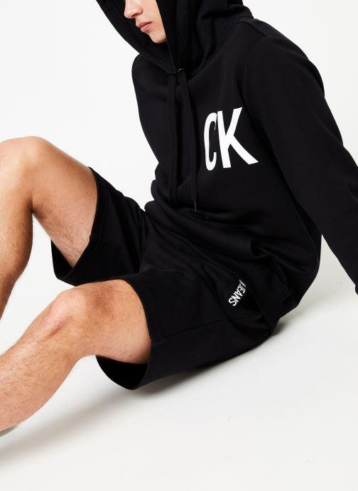 Vêtements Calvin Klein Jeans STATEMENT LOGO HOODY Noir vue détail/paire