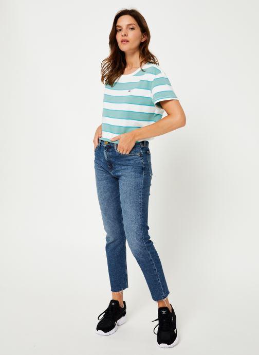 Vêtements Tommy Jeans HIGH RISE SLIM IZZY CROP ACMBC Bleu vue bas / vue portée sac