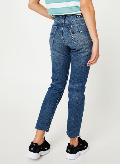Vêtements Tommy Jeans HIGH RISE SLIM IZZY CROP ACMBC Bleu vue portées chaussures