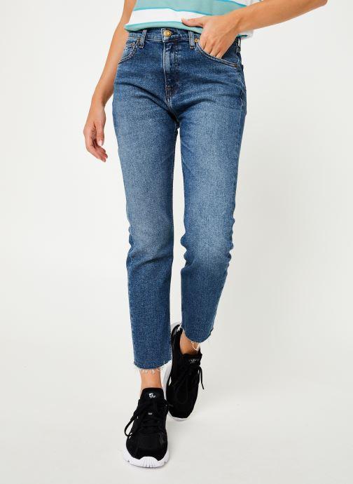 Vêtements Tommy Jeans HIGH RISE SLIM IZZY CROP ACMBC Bleu vue détail/paire