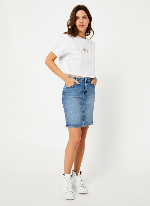 Vêtements Tommy Jeans TJW SUMMER RETRO TEE Blanc vue bas / vue portée sac