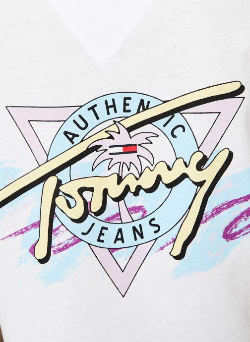 Vêtements Tommy Jeans TJW SUMMER RETRO TEE Blanc vue face