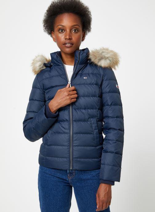 Vêtements Tommy Jeans TJW ESSENTIAL HOODED DOWN JACKET Bleu vue droite