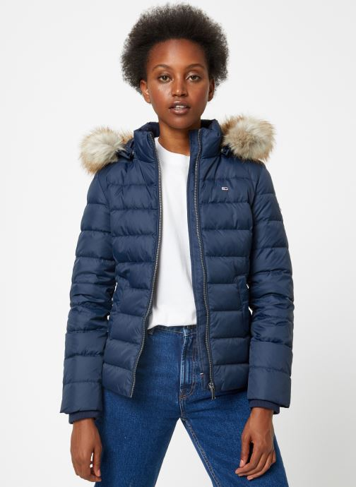 Vêtements Tommy Jeans TJW ESSENTIAL HOODED DOWN JACKET Bleu vue détail/paire