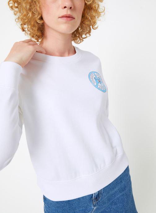 Vêtements Tommy Jeans TJW PEACE AND LOVE CREW Blanc vue détail/paire