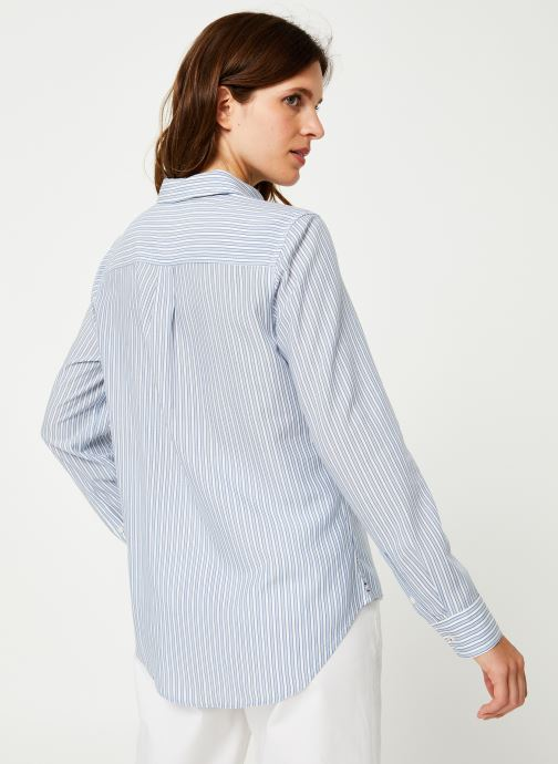 Kleding Tommy Jeans TJW REGULAR STRIPE SHIRT Wit model