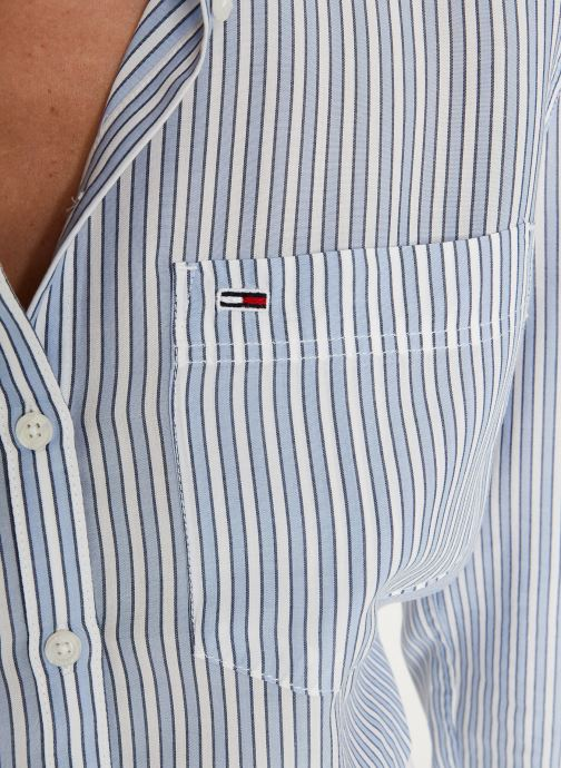 Vêtements Tommy Jeans TJW REGULAR STRIPE SHIRT Blanc vue face