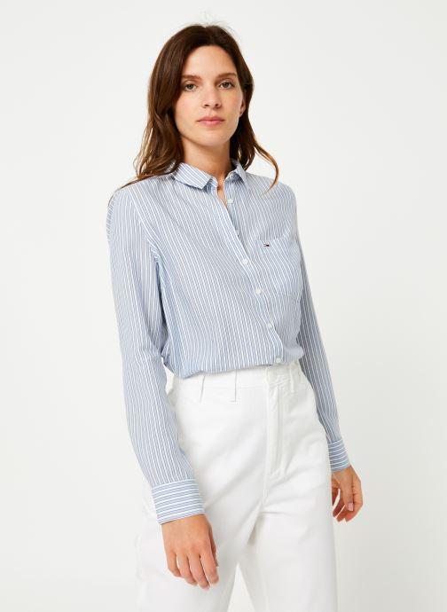 Vêtements Tommy Jeans TJW REGULAR STRIPE SHIRT Blanc vue droite