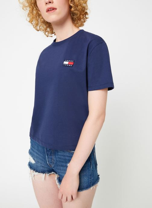 Kleding Tommy Jeans TJW TOMMY BADGE TEE Blauw rechts