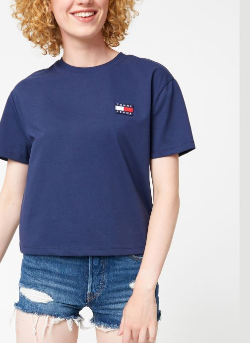 Kleding Tommy Jeans TJW TOMMY BADGE TEE Blauw detail