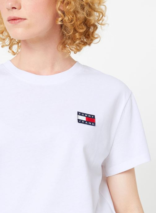 Vêtements Tommy Jeans TJW TOMMY BADGE TEE Blanc vue face