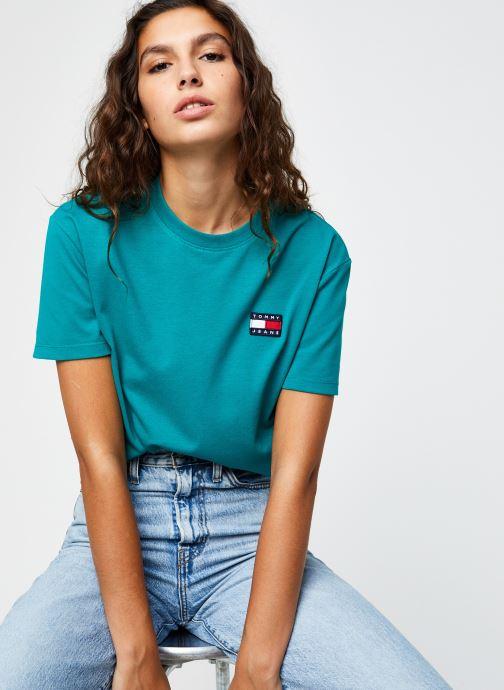 Vêtements Tommy Jeans TJW TOMMY BADGE TEE Vert vue détail/paire
