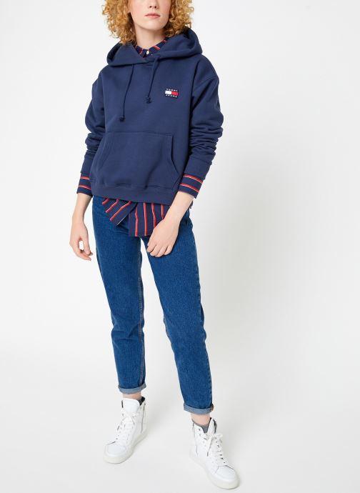 Tøj Tommy Jeans TJW TOMMY BADGE HOODIE Blå se forneden