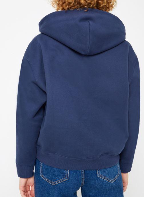 Tøj Tommy Jeans TJW TOMMY BADGE HOODIE Blå se skoene på