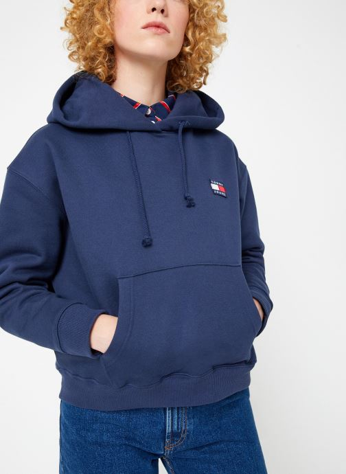 Kleding Tommy Jeans TJW TOMMY BADGE HOODIE Blauw rechts