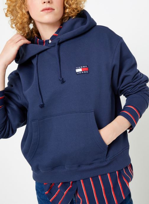 Kleding Tommy Jeans TJW TOMMY BADGE HOODIE Blauw detail
