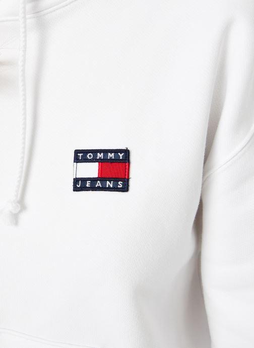 Vêtements Tommy Jeans TJW TOMMY BADGE HOODIE Blanc vue face