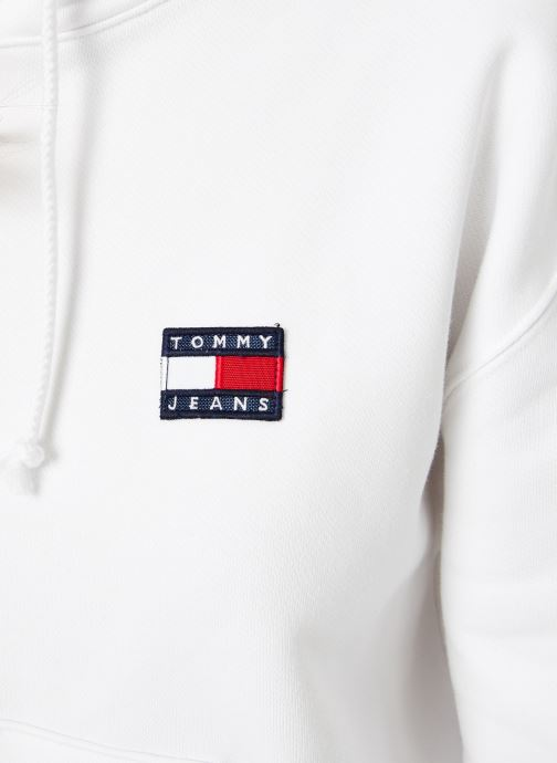 Vêtements Tommy Jeans TJW TOMMY BADGE HOODIE Blanc vue face
